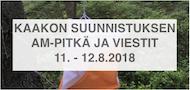 Kaakon AM pitkä ja viestit 11-12.8.2018